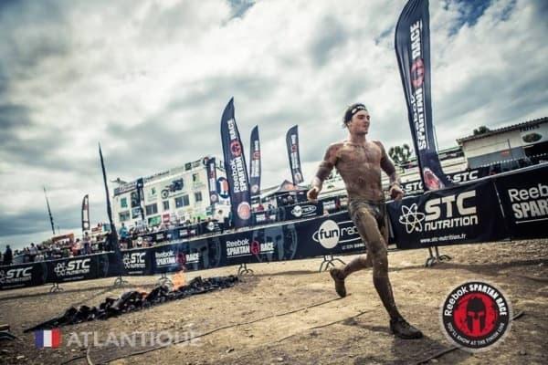 Grégoire médaille finish line spartan race