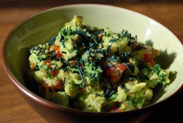 recette spiruline guacamole