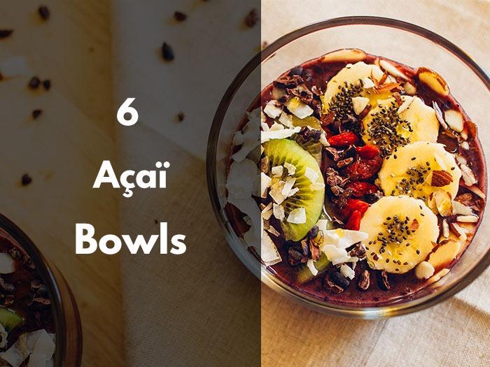recettes, açai bowl