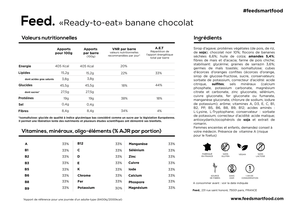feed avis test composition smartfood