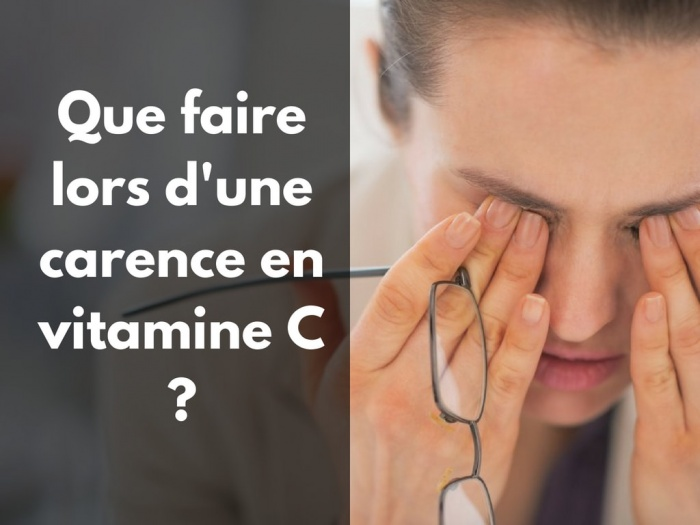 vitamine c symptome traitement carence aliment fatigue