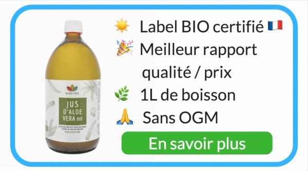 boisson aloe vera bio qualité meilleur jus