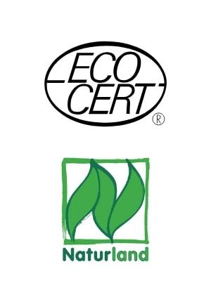 spiruline logo natureland ecocert