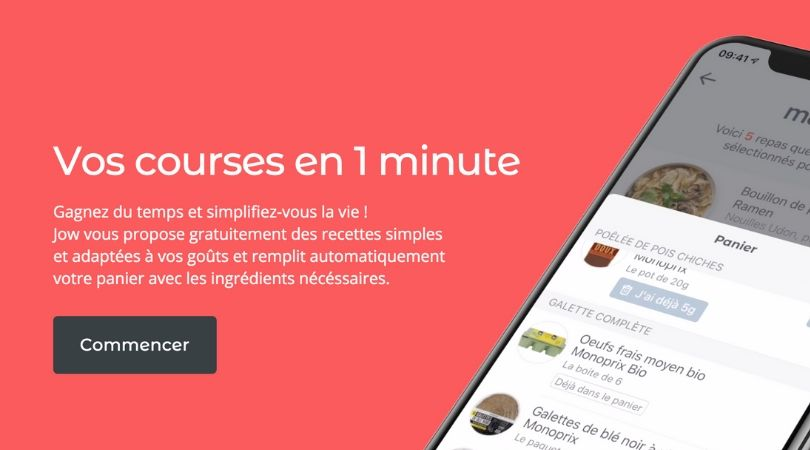 Jow application courses monoprix