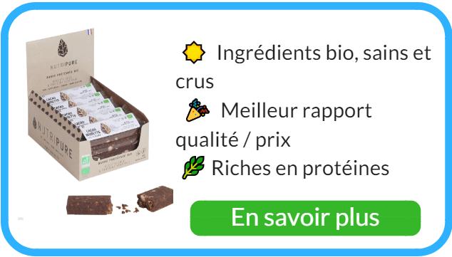 Acheter des barres protéinées vegan et naturelles.